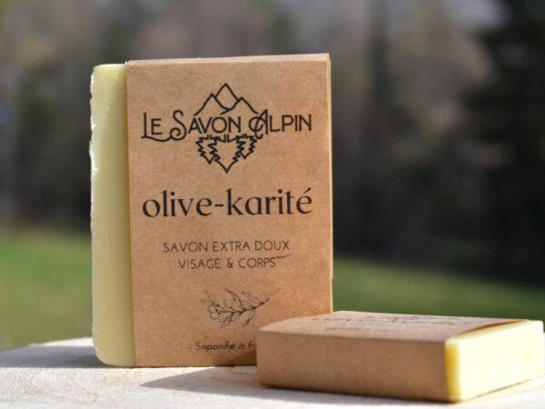 Savon à l'huile d'olive et au karité